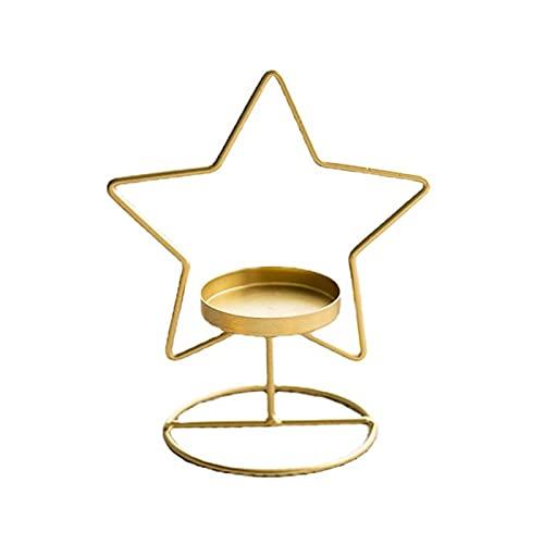 Mysracing Candelero ecológico delicado candelabro de Navidad Pentagrama