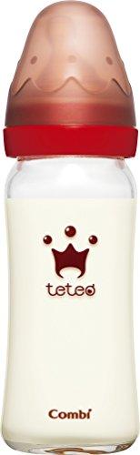 コンビ Combi テテオ teteo 授乳のお手本 哺乳びん耐熱ガラス製 240ml Mサイズ乳首付