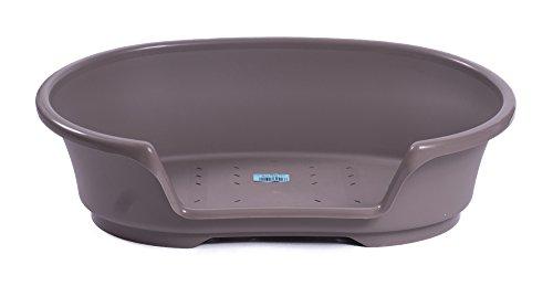 "Kunststoff Bett ""Cosy-Air"" warmgrau 90 cm"