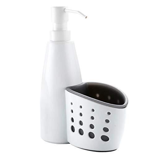 SKVVIDY Dispensador Jabon Bomba dispensadora de jabón de Cocina 2 en 1 y Botella de dispensador de jabón líquido del Organizador de la Esponja Dispensador Jabon BañO