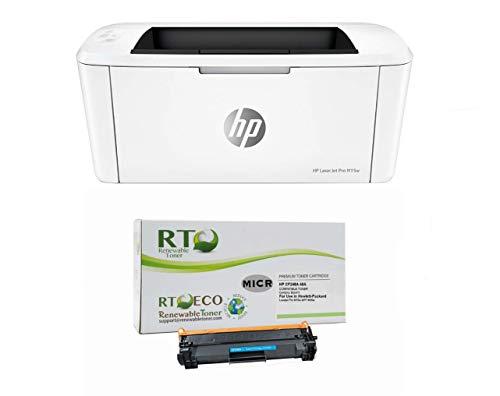 Renewable Toner Laserjet M15w Check Printer Bundle with Compatible HP CF248A 48A MICR