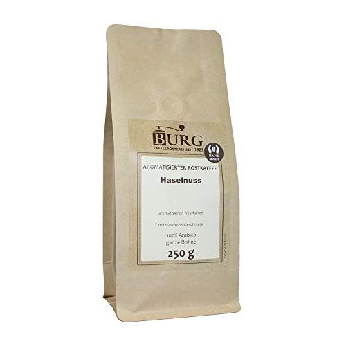BURG Haselnuss Kaffee aromatisiert Gewicht 1000 g, Mahlgrad ungemahlen