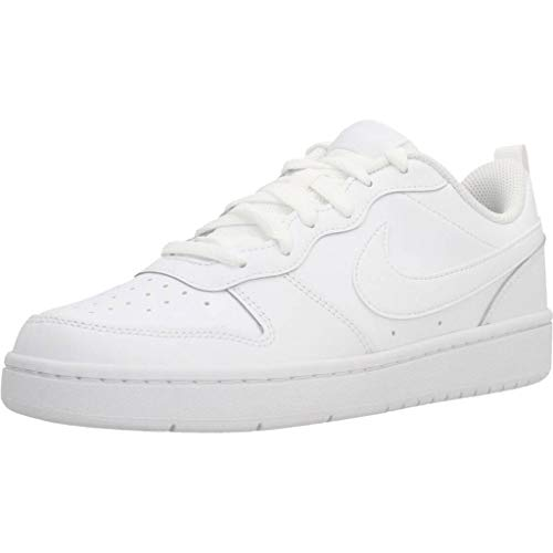 Nike Boys Court Borough Low 2 (GS) Sneaker, White/White-White, 38 EU