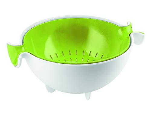 Guzzini Fratelli Kitchen Active Design, Set Abtropfsieb mit Behälter Spin&Drain, PP