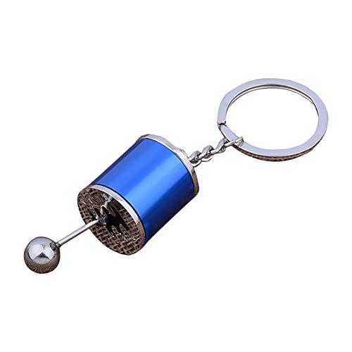 Oyfel - Llavero de cambio de velocidad, caja de cambios de engranaje, manual emulación de metal, aleación, regalo para coche, bolsa de teléfono o cartera