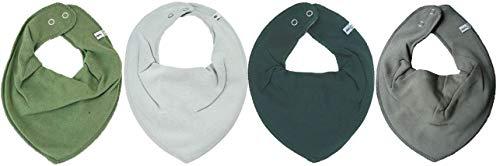 Pippi * Lot de 4 bavoirs triangulaires pour bébé, 4 pièces * différentes combinaisons de couleurs. - Multicolore - Taille Unique