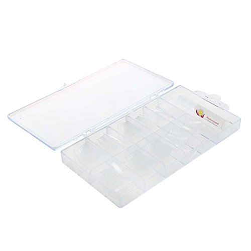 100pcs Clear Acrylic French False Nail Half Tips Box Package