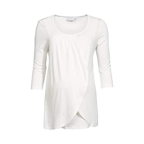 2HEARTS T-Shirt de Grossesse et d'allaitement T-Shirt de Grossesse T-Shirt de Grossesse, Blanc