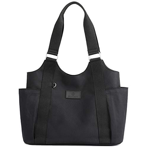 ZQKJLH Crossbody Bag for Women, MJH-B09 Ladies Casual Sporty Waterproof Nylon Shoulder Bag Large Messenger Handbag for Shopping Travel - Black/Gray/Khaki/Purple - 14.2 * 5.1 * 12.2 inches