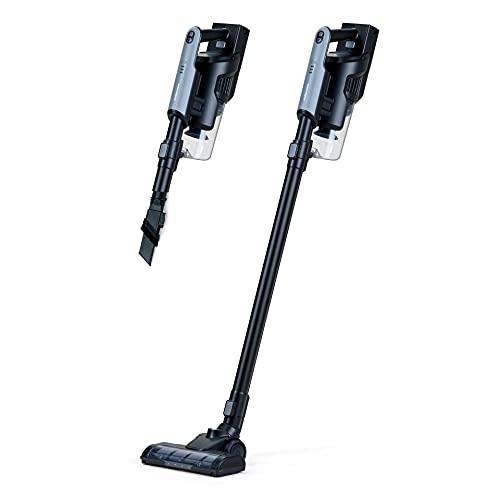 Mellerware - Aspirador Vertical Ligero Whooshy! 120W | 10000Pa | 3en1 (Lanza/Escoba/Mano) | Silencioso | Filtro HEPA | Sin Cable | Modo Eco+Turbo | 40 min Autonomía | 3 Accesorios | Black
