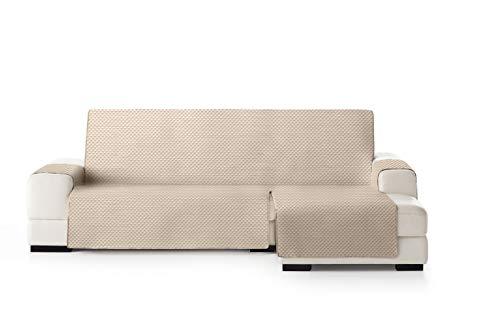 Eysa Oslo Salva, Microfiber, C/1 Beige-Greggio, Penisola 290 cm. Adatto per divani da 300 a 350cm