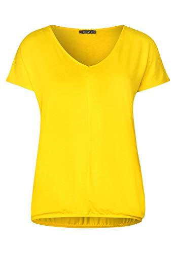 Street One Damen Ramona Top, Shiny Yellow, 40