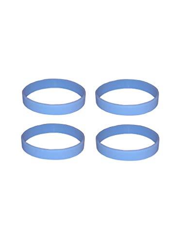 Beyond Dreams 4 pulseras de silicona para motivación de fitness, pulsera de goma de silicona para deporte, pulsera de motivación, pulsera unisex (4 azul claro)