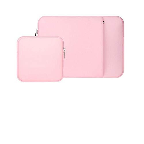 Laptop Sleeve 11 12 13 14 15 15.6 inch ntebook case Soft Bag for acbook Air Pro Retina Tablet Pocket-Pink-P_Set_14 inch