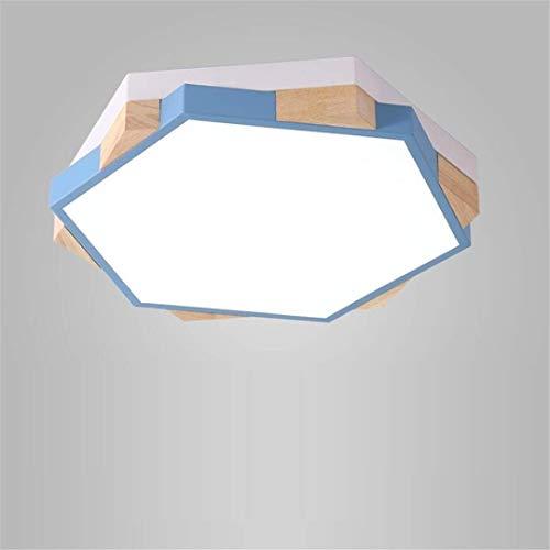 Thumby plafondlamp noord-stijl eenvoudige blauwe lamp slaapkamer log geometrische vorm persoonlijkheid klein appartement Koreaanse creatieve vreemde led kamer lamp