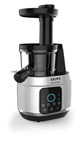Krups Extractor de Jugos ZB420EMX Juice & Clean prensado en Frío, 150W y 4 velocidades, presión lenta y suave para extraer la mayor cantidad de nutrientes y vitaminas
