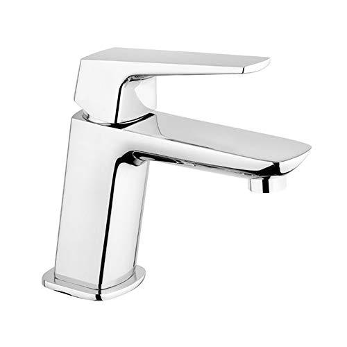 Rubinetto monocomando per lavabo bagno cromato con raccordi flessibili R24300