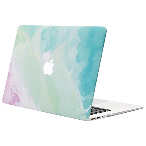 MOSISO Funda Dura Compatible con MacBook Air 13 Pulgadas (A1369 / A1466, Versión 2010-2017), Ultra Delgado Carcasa Rígida Protector de Patrón de Plástico Cubierta, Niebla del Arco Iris