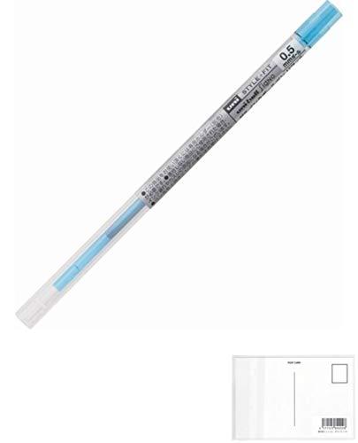 三菱鉛筆 スタイルフィット ゲルインク リフィル 0.5【スカイブルー】 UMR-109-05.48 + 画材屋ドットコム ポストカードA
