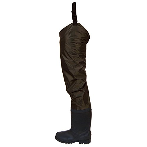 Frogg Toggs Rana II PVC Bootfoot Hip Wader, Cleated Outsole, Brown, Size 11