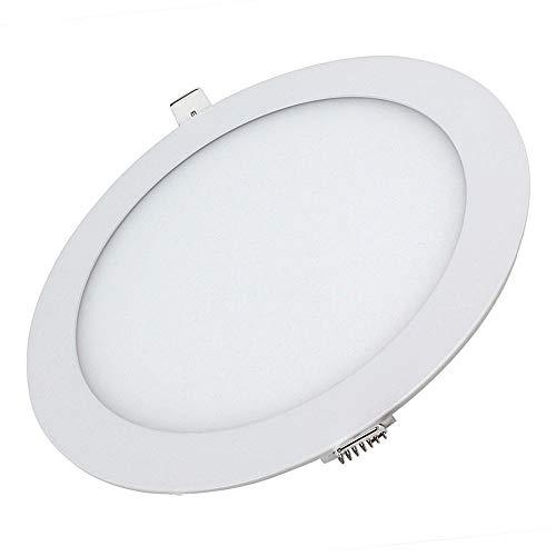 12 W LED rond encastrable au plafond Flat Panel Duvet léger Ultra fin lampe Blanc froid 6500 K.