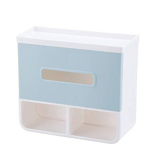 Soporte de Rollo de Inodoro Bandeja de plástico de Alta Resistencia Cajas de Tejido de baño Pegamento es fácil Instalar el Ahorro de Espacio para el baño del baño (Color : Green, Size : 21x19x9cm)