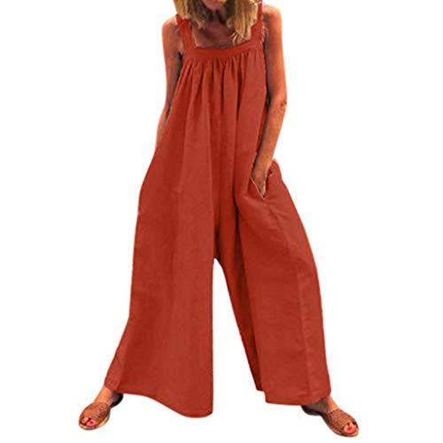 RISTHY Monos Largos Mujer Elegantes Verano Monos Mujer Clubwear Playsuit Tirantes Monos de Piernas...