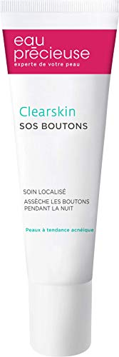 Eau Précieuse – Clearskin SOS BOUTONS 10ml – Soin localisé – Assèche les Boutons pendant la Nuit – Peaux à Tendance Acnéique