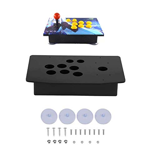 Hztyyier DIY Arcade Panel Acrílico Inclinado + Reemplazo de la Caja de Joystick para Arcade Game, Panel de Acrílico y Reemplazo de Kits de Juego de DIY