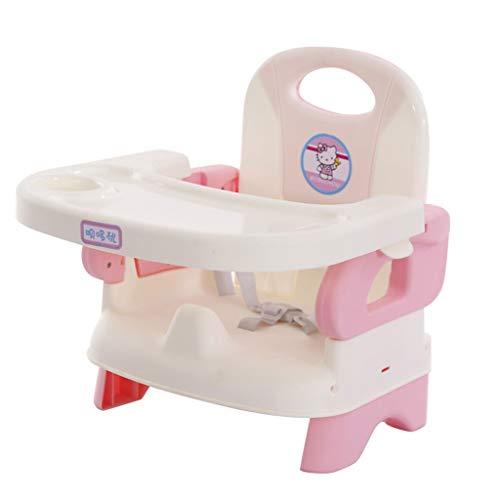 YShop Siège rehausseur de Voyage avec Plateau for bébé |Chaise Haute portative Se Pliante for des Nourrissons à la Chaise dinante d'enfants en Bas âge ( Color : Pink )