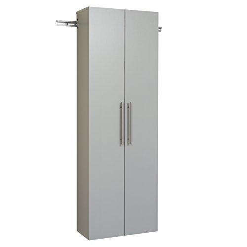 "Prepac Hang-Ups Storage Cabinet, 24""/Large, Light Gray"