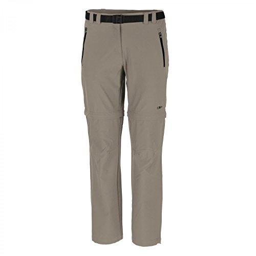 CMP Damen Hose Woman Stretch Long Pant Zip Off 3T51446 Corda 50