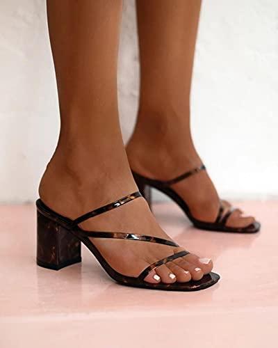 Sandalias de Mujer 2021, Zapatos de Tacones Altos para Mujer, Zapatillas con Punta Abierta, Zapatos de tacón de Moda para Fiesta, Sandalias para Mujer, Negro