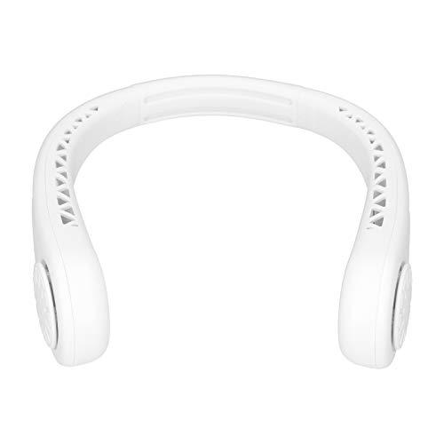 Sxhlseller Mini Ventilador de Cuello Colgante sin Hojas, diseño de Cuello Colgante en Forma de U, Recargable con 3 velocidades de Viento, silencioso y portátil, Adecuado para soplar y refrescarse