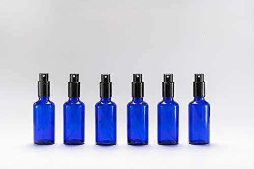 Yizhao Azul Pulverizador Cristal 50ml, Glass Spray Bottles con [Atomizador],para Aceites Esenciales,...