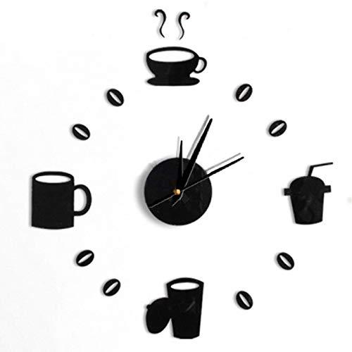 Reloj de Pared Reloj de Pared Reloj Relojes 3D DIY Acrílico Espejo Pegatinas Sala de Estar Aguja de Cuarzo Europa Horloge Decoración del hogar