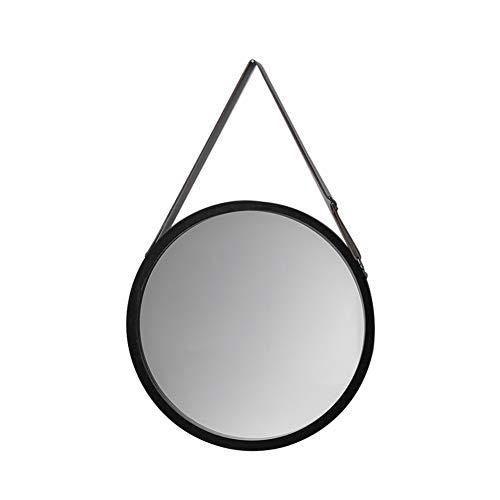 Daoyuan Miroir Mural Salle De Bains Miroir Rond Décoratif Suspendu Miroir Noir Élégant Et Élégant Miroir De Maquillage Nordique,Noir