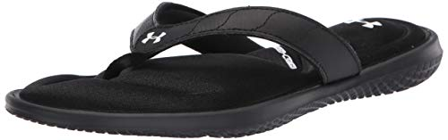 Under Armour Women's Marbella VII T Flip-Flop, Black (001)/White, 11 M US
