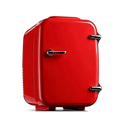 ELXSZJ XTZJ Mini Nevera, 4 litros / 6 Puede Enfriador portátil y refrigerador Personal más cálido para Cuidado de la Piel, cosméticos, Comida, Ideal para Dormitorio, Oficina, Coche, Dormitorio