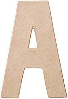 Darice Paper Mache Letter - A - 8 x 5.5 x 1 inches