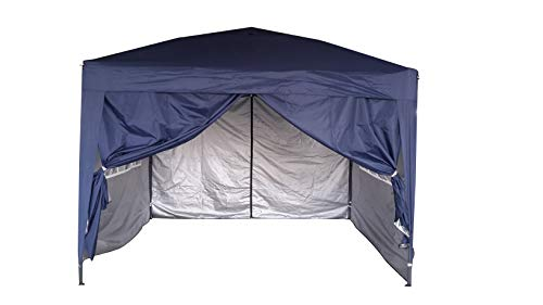 MCC@home 3x3m Waterproof Pop-up Gazebo with Silver Protective Layer Marquee Canopy WS (Blue)