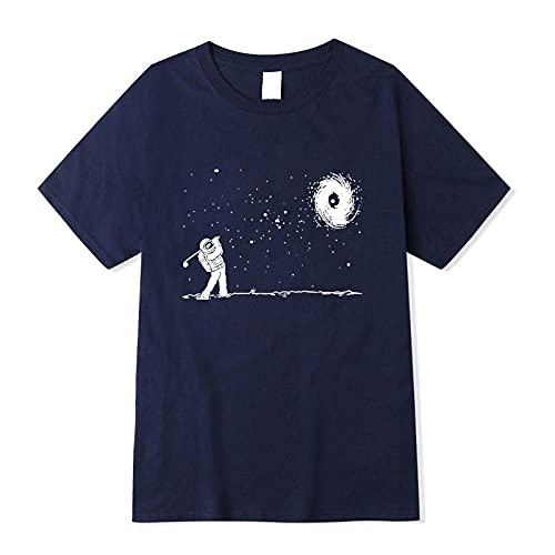 Camisetas Para Hombre Camiseta Con Estampado De Astronauta Divertida De Algodón Para Hombre Camiseta Holgada Con Cuello Redondo Para Hombre Camiseta De Manga Corta Camiseta Masculina Tops I M