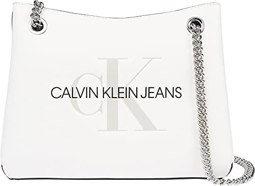 Calvin Klein Jeans Shoulder Bag Borsa a Spalla Donna K60K607831 YAF Bright White