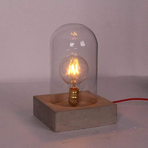 Lampen boekenlamp tafellamp leeslamp licht leren kledingwinkel bar studie decoratie glas beton cement tafellamp