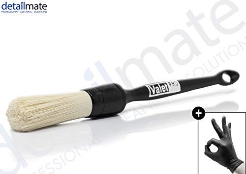 ValetPRO Small Ultra Soft Brush Chemical resistent - Ultra weicher, dünner Reinigungspinsel chemieresistent BRU 35 + + Nitril Schutzhandschuh