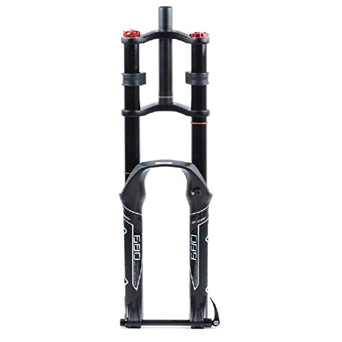 TYXTYX Horquilla Delantera de Bicicleta 26 27,5 29 Pulgadas Control de Hombro Doble MTB Suspensión Cuesta Abajo Presión de Aire Tubo Recto Aleación de Aluminio Ultraligero Amortiguador de Bicicleta