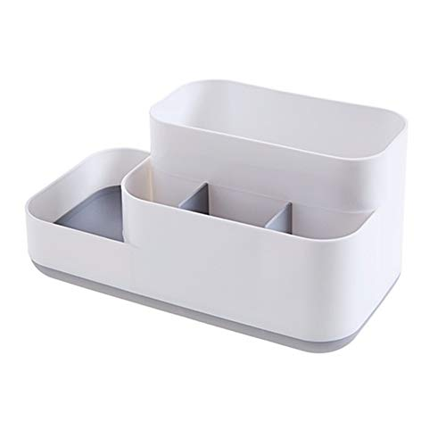 RJJX Home MeyJig Makeup Storage Box Cosmetic Organizer große Kapazitäts-Make-up Vitrine Bürste Lippenstift-Halter Schreibtisch Badezimmer Organizer (Color : Gray, Size : 23x13x12cm)