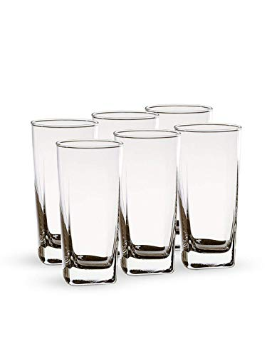 JRP MART JNV Crystal Clear Transparent Water and Juice Glasses - Set of 6