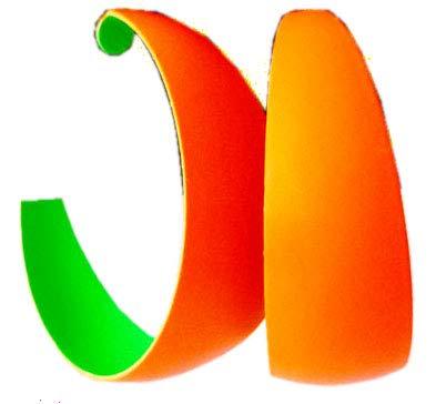 Evil Wear 4957 Boucles d'oreilles créoles pour femme Couleurs fluo 45 mm