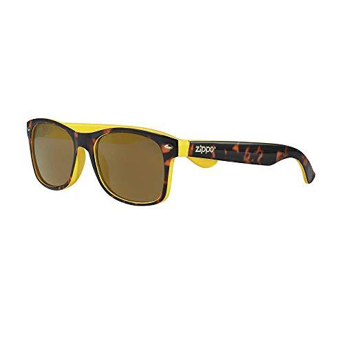 Zippo Gafas de sol 2020 OB66-13 lentes amarillas espejadas con inserciones amarillas y montura Camo